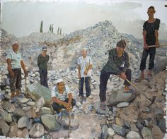 2012 EAST, Liu Xiaodong (b1963, Jincheng, Liaoning Province, China). He now holds tenure as a professor in the painting department at CAFA