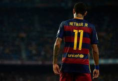 Neymar JR of Barcelona is seen during the La Liga match between FC Barcelona and SD Eibar at Camp Nou Stadium on October 25 2015 in Barcelona Spain
