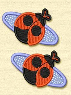 Lady Bug Hair Clips