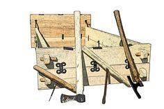 drawing of the Street House Anglo-Saxon Bed