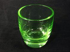 Green Vaseline Shot Glass Vintage