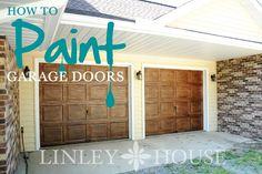 How to Paint Old Garage Doors