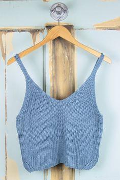 V-Neck Knit Sweater Tank