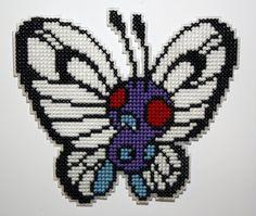 Kreuzstich Butterfree Pokemon Magnet von behindthesofa auf Etsy
