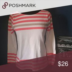 J Crew Top! Bright striped color top. Great for the fall season, with cute jeans. J. Crew Tops
