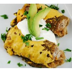 Vegetarian Black Bean and Spinach Enchiladas made in your slow cooker