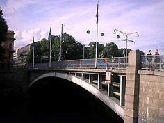 Brücke in Turku Bridges, Finland, River, City