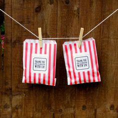 Items similar to RESERVED for Jessica // SALE Personalized Candy Stripe Bags // Wedding Favors // Valentine Party Bags // English Seaside on Etsy Carnival Themed Party, Carnival Wedding, Carnival Themes, Circus Party, Seaside Wedding, Beach Wedding Favors, Diy Wedding, Seaside Theme, Wedding Ideas