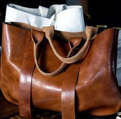 Brown leather bag. Simple. Lovely.