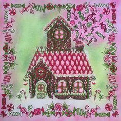 #johannaschristmas #gingerbreadhouse #johannabasford #adultcoloringbook