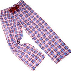 Fine cotton check pyjama bottoms for summer at The Pyjama House