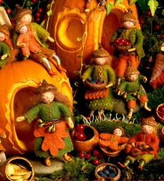 Autumn Fall  Harvest felt weefolk  Salley Mavor