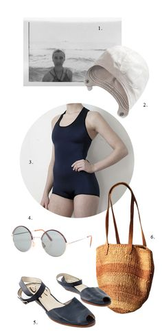 Fashion inspiration from a 1920s swimmer.