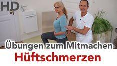 Hüftschmerzen Übungen (Hüftarthrose) zum Mitmachen // Hüfte, Arthrose,...