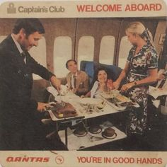 Luxury First Class, Voiture and Silver Service. Pacific Airlines, Best Airlines, Vintage Airline, Vintage Travel, Airline Cabin Crew, Have A Nice Trip, Jumbo Jet, Piano Bar, Welcome Aboard