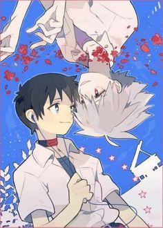 Shinji and Kaworu