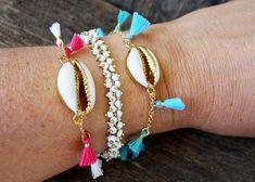 Cowrie Shell Bracelet, Tassel Bracelet, bracelet,  Shell jewelry, tassel jewelry, beach bracelet, beach jewelry, gift for her, gold bracelet Beach Bracelets, Tassel Bracelet, Shell Bracelet, Tassel Jewelry, Shell Jewelry, Beach Jewelry, Charm Bracelets, Silver Bracelets For Women, Silver Bangles