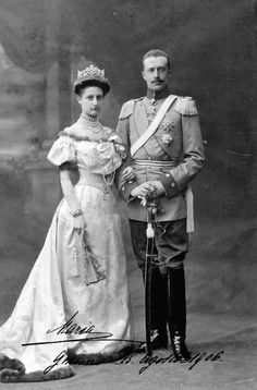 Archduchess Maria Immaculata of Austria -Tuscany (1878–1968) and her husband Robert of Württemberg (1873–1947).