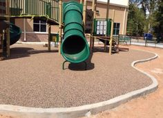 Norris Ferry Community Church in Shreveport, Louisiana has a brand new playground thanks to a partnership between No Fault Sport Group and Kyle Recreation.  The Church chose our No Fault Safety Surface for the playground because of its resiliency, durability and the safety that it provides.  The hunter green playground equipment complements the color of the playground surfacing which is a mixture of tan and black.