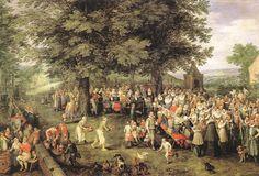 Wedding Banquet by BRUEGHEL, Jan the Elder