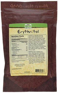 Now Foods, Erythritol 100% Pure Natural Sweetener, 1 lb (454 g): Amazon.it: Elettronica