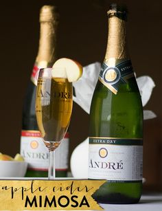 If you have been looking for the perfect fall and winter drink then look no further because Andre Champagne has you covered with an Apple Cider Mimosa.