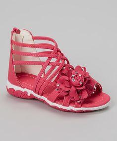Fuchsia Crisscross Gladiator Sandal by Amy #zulily #zulilyfinds