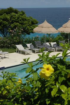 The beautiful pools at Malliouhana Hotel & Spa