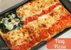 Flag Pizza by @kristynm #veggieworld