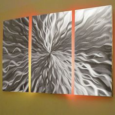 """Cosmic Energy"""" Large 68""""x24"""" Abstract Metal Wall Art with LED ..."""