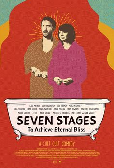 Click to View Extra Large Poster Image for Seven Stages to Achieve Eternal Bliss Josh Brener, Sam Huntington, Mark Mckinney, Maria Bamford, Kate Micucci, Rhea Seehorn, Color Out Of Space, Matt Jones, Poster