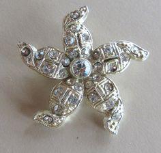 Vintage Rhinestone Brooch Jewelry by jpcraft15 on Etsy, $12.95