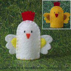 rooster chicken finger puppet