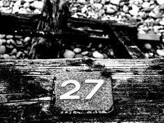 . Number 27, Lucky Number, Budleigh Salterton, Samsung Logo, Letters And Numbers, The Twenties, Monochrome, Wall, Numbers