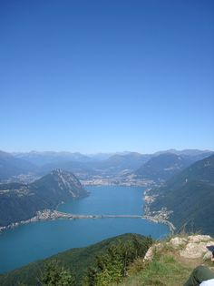 Lake Lugano from Monte San Giorgio, Switzerland