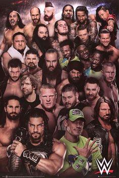 WWE Superstars 2018 - Wrestling Poster (The 2018 Wrestling Superstars) (Size: 24 x 36 inches) Wrestling Posters, Wrestling Wwe, Wwe Superstars, Wwe Superstar John Cena, Wwe Lucha, Jinder Mahal, Kevin Owens, Wwe World, Wwe Champions