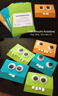 Einladungskarten Monster basteln