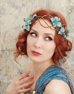 Siren song  art nouveau mermaid crown by gardensofwhimsy on Etsy, $46.00
