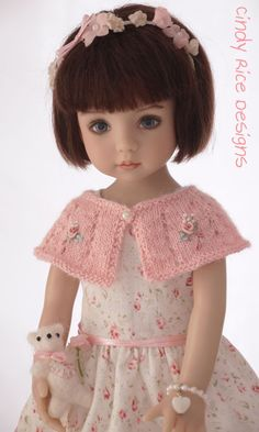 """""""Princess and the Pearl"""", a hand made outfit for Dianna Effner's Little Darling dolls, cindyricedesigns.com"""
