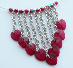 Queen of Hearts Valentine Necklace on Etsy @SimplySweetHome