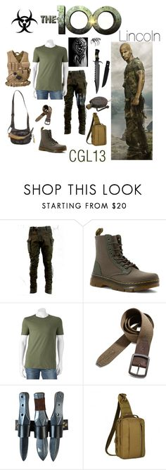 """""""Lincoln"""" by cgl13 ❤ liked on Polyvore featuring Dr. Martens, SONOMA Goods for Life, Lucky Brand, Noir, men's fashion, menswear, lincoln and the100"""