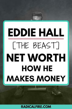 Do you want to know who Eddie Hall is? More specifically, do you want to know how he makes his money? Here's Eddie Hall's net worth, his career, and the benefits of his fame. How To Get Rich, How To Become, Eddie Hall, World's Strongest Man, Dividend Investing, Creating Wealth, Finance Organization, Financial Peace, Managing Your Money