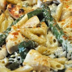 Chicken and Asparagus Penne Bake on MyRecipeMagic.com