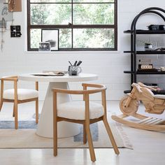 Leanne Ford Motorcycle Ride On | Crate and Barrel Kids Play Table, Wood Charcoal, Cool Kids Rooms, Kids Bookcase, Kids Seating, Unique Furniture, Kids Furniture, Engineered Wood, Crate And Barrel