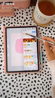Digital Art Beginner, Ipad Hacks, School Organization Notes, Ipad Art, Digital Art Tutorial, Bullet Journal Ideas Pages, Diy Canvas, Art Tutorials, Planner Stickers