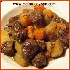 Slow Cooker Beef Stew         This delicious beef stew will keep you and your family full! This is a great crock pot recipe to throw toget...