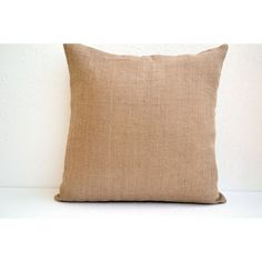 Decorative Pillow Cover in Natural Burlap (2,765 INR) via Polyvore featuring home, home decor, throw pillows, toss pillow, burlap throw pillows, handmade home decor and burlap home decor