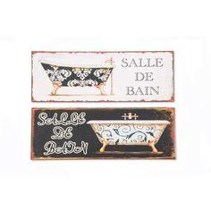 Set 2 Cuadros Baño Vintage