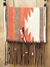 Totem Saddle Blanket Bag at Free People Clothing Boutique - StyleSays. It's the Indian in me coming out. Fringe Purse, Fringe Bags, Gold Handbags, Purses And Handbags, Coach Handbags, Coach Bags, Discount Designer Handbags, Saddle Blanket, Textiles