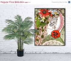 """""""Of the Forest"""" stretched canvas print by Jenndalyn Art #art #mixedmedia #collage #bohemian"""